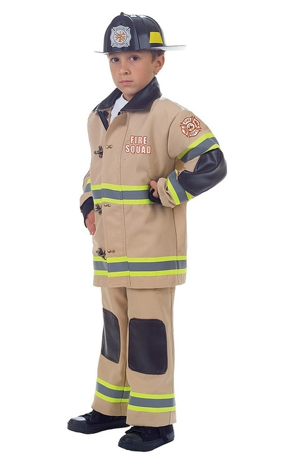 Firefighter Tan Boy Costume