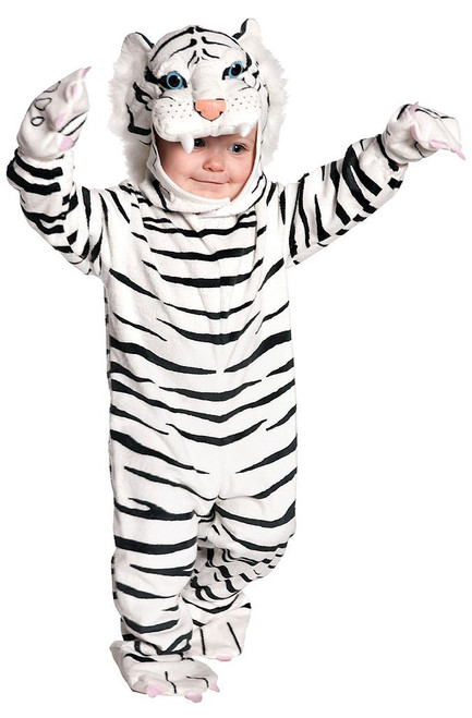 White striped tiger Toddler Costume
