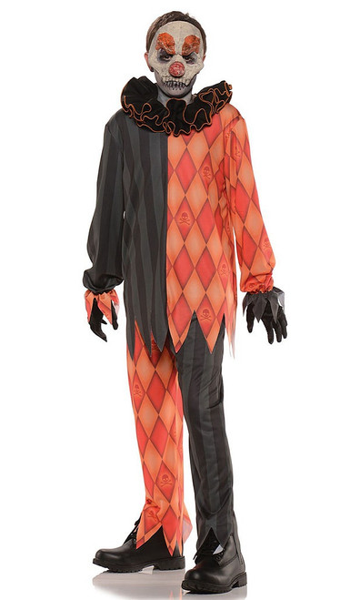 Evil Clown Costume Boy