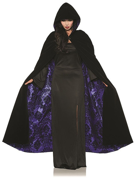 Velvet & Satin Purple Cape