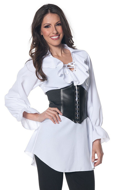 Pirate Laced Blouse White