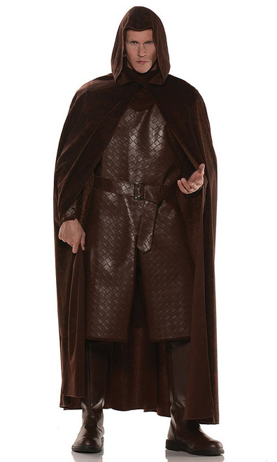 Deluxe Hooded Brown Cape