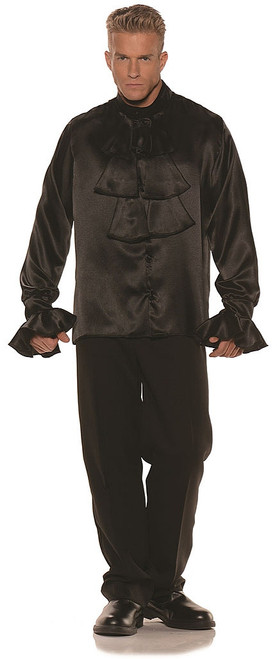 Black Satin Goth Shirt