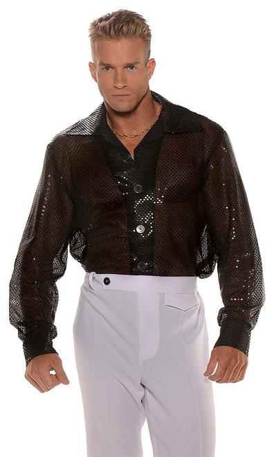 Disco Black Sequin Shirt