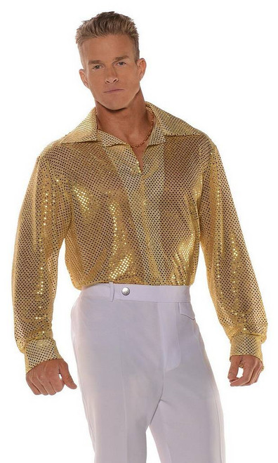 Disco Gold Sequin Shirt