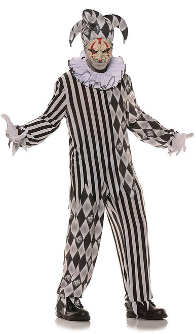 Evil Harlequin Jester Men Costume