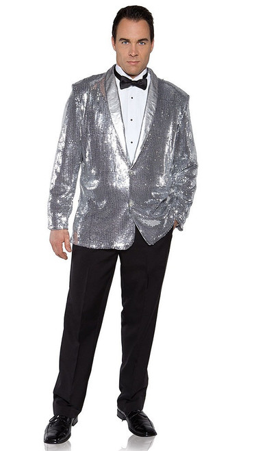 Silver Sequin Man Jacket