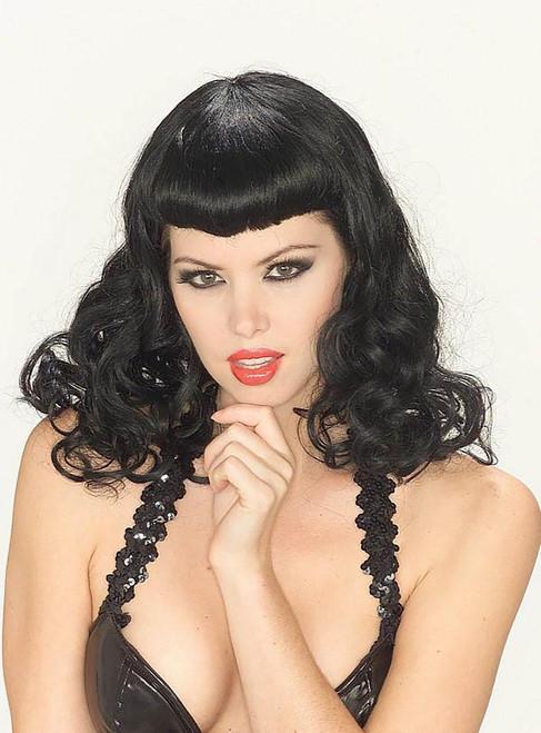 Pin-up Girl black Wig