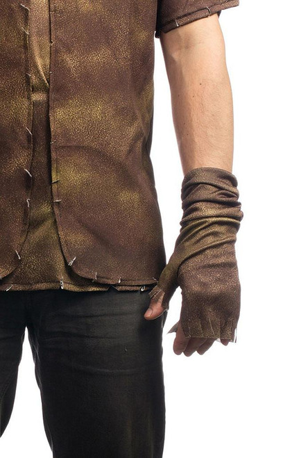 Steampunk Brown Fingerless Gloves