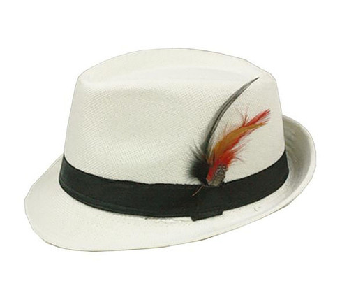 White Adult Fedora Hat