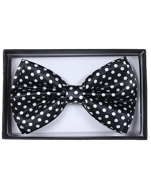 Black and White Adult Bow Tie