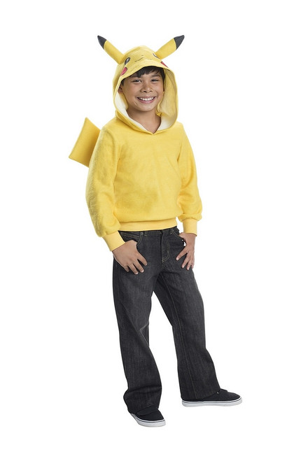 Pikachu Kids Hoodie With Tail