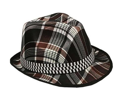 Plaid Adult Fedora Hat