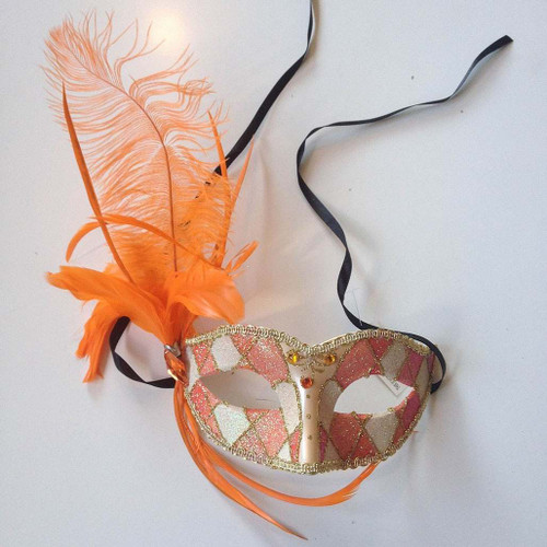Coral Venetian Style Mask