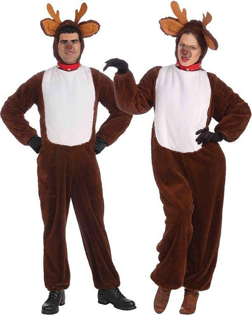 Plush Reindeer Jumpsuit Costume