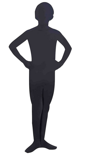 I'm Invisible Black Skin suit Child Costume