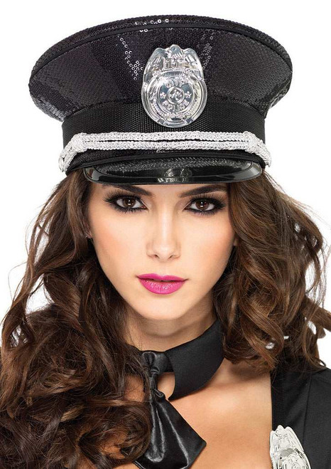 Sequin Police Hat