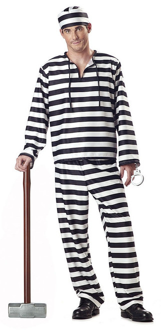 Jailbird Prisoner Costume