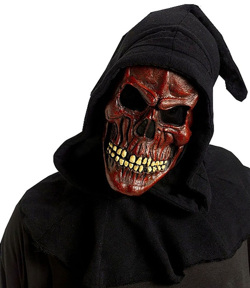Red Skull Mask with Shroud