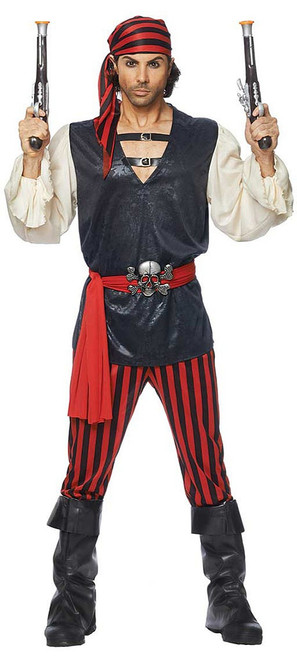 Red Black Pirate Costume