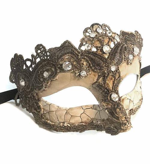 Venetian Lace Mask Ivory