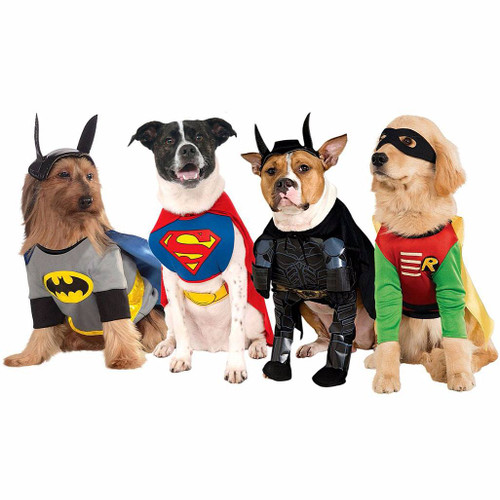 DC Marvel Mash Up Group Dog Costumes