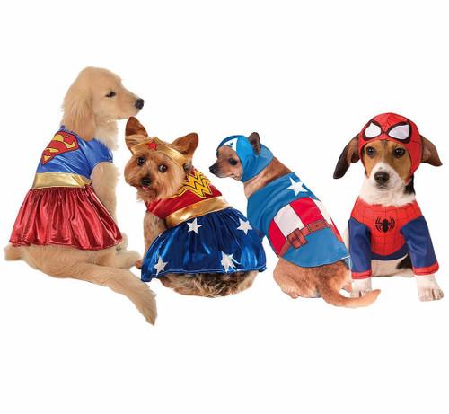 Superhero Group Pet Costume