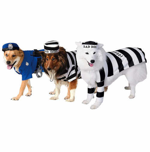 Police and Prisoners Group Pet Costume