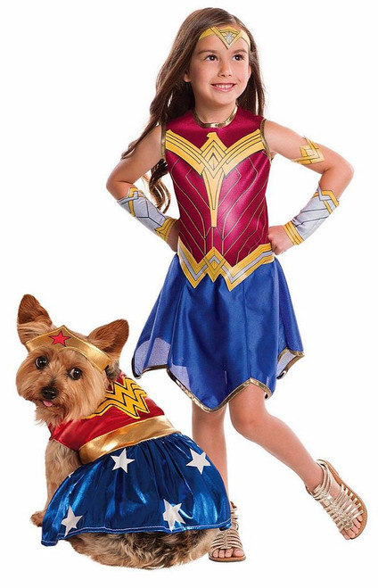 Wonder Woman Costume with Pet