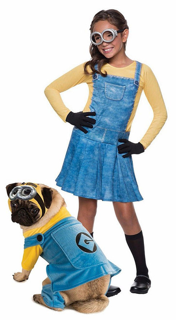 Minions Couple Costume with Pet