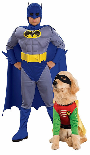 Batman and Robin Costume with Pet