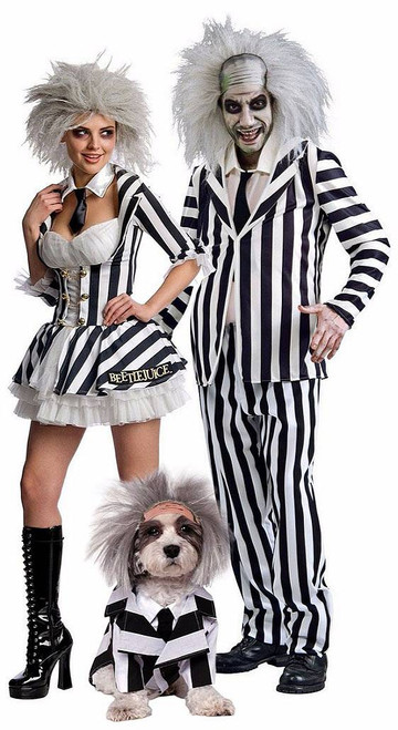 Beetlejuice Couple Costume with Pet