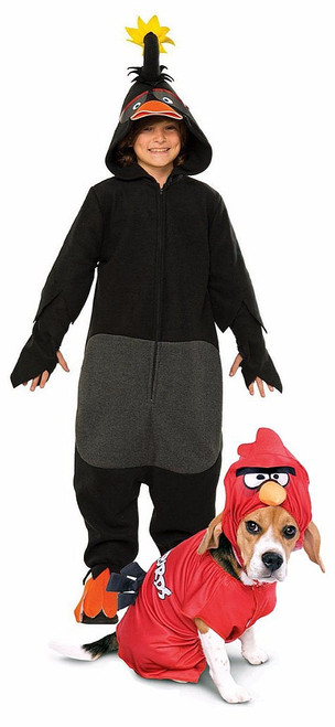 Angry Birds Couple Costume with Pet