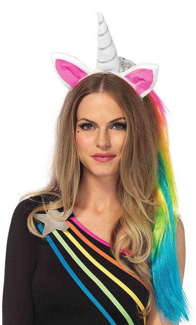 Rainbow Maned Unicorn Headband