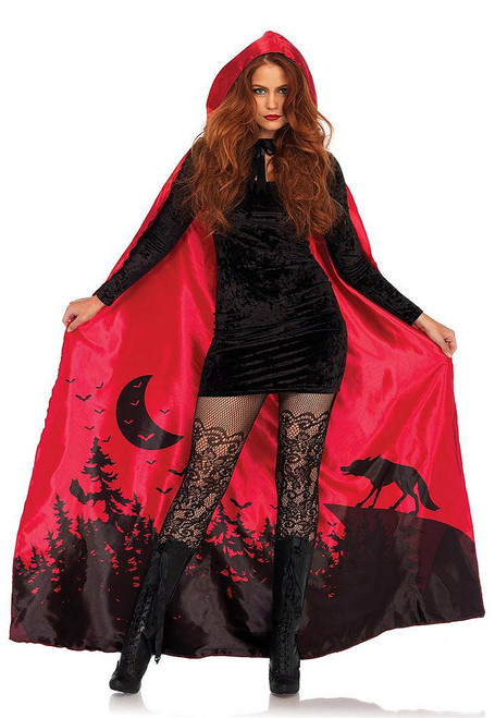 Satin Red Riding Hood Cape