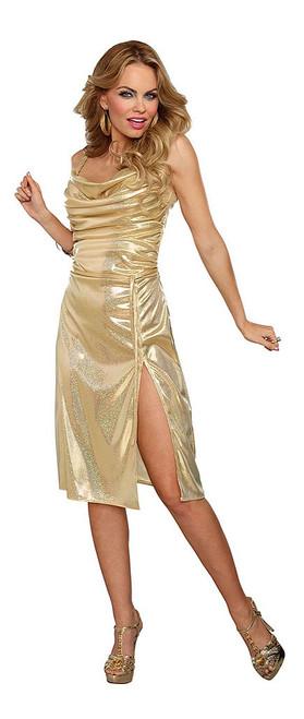 Gold Disco Inferno Dress