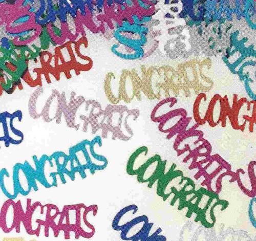 Multicolor Confetti Congrats