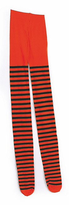 Orange & Black Stripe Tights