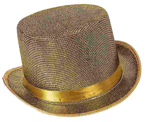 Gold Mesh Top Hat
