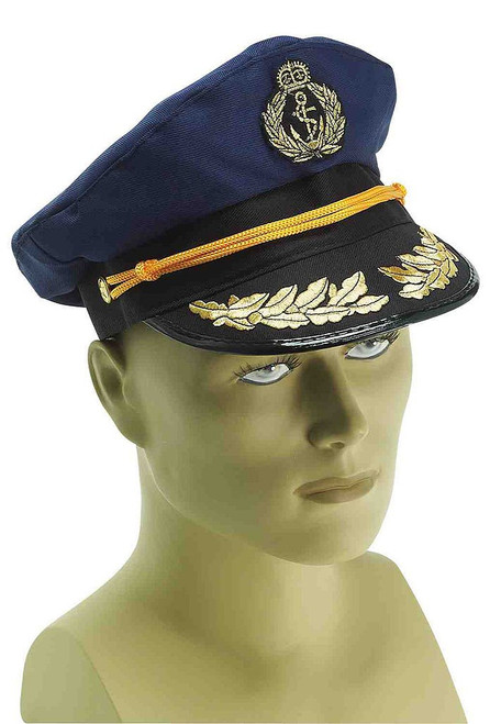 Navy Blue Captain Hat