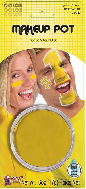 Yellow Makeup Pot