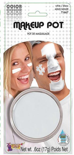 White Makeup Pot