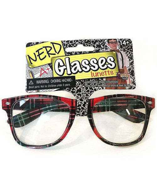 Plaid Nerd Glasses