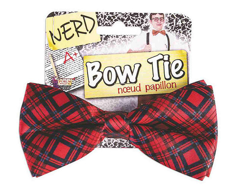 Plaid Nerd Bow Tie
