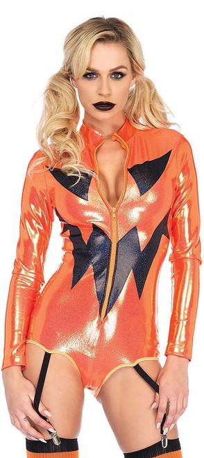 Jack-O-Lantern Garter Bodysuit