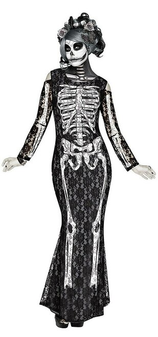 Lacy Bones Womens Costume