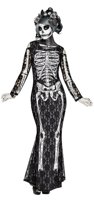Lacy Bones Womens Costume