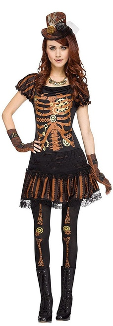 Skele-Punk Womens Costume