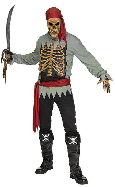 Skeleton Pirate Mens Costume