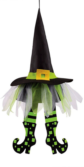 Green Floating Witch Hats 24""